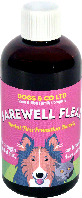Farewell Fleaz, herbal flea prevention